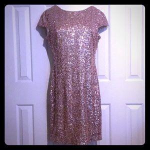 Gorgeous Rose Gold Sequins Dress